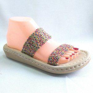 SBICCA Comfort Boho  Multicolor  Slides Sandals